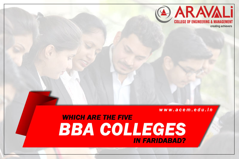 Which are the five best BBA colleges in Faridabad